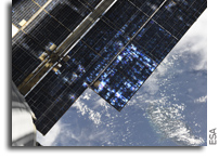 Artistry In The Service Module Solar Panels