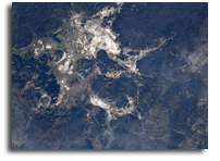 Grand Prismatic Spring As Seen From Orbit