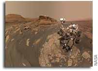 NASA's Curiosity Mars Rover Takes Selfie With 'Mont Mercou'