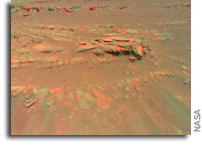 Ingenuity Helicopter Captures a Mars Rock Feature in 3D