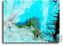 Rain and Warmth Trigger More Melting in Greenland