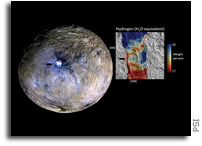Traces of Ceres' Icy Crust Found at Occator Crater