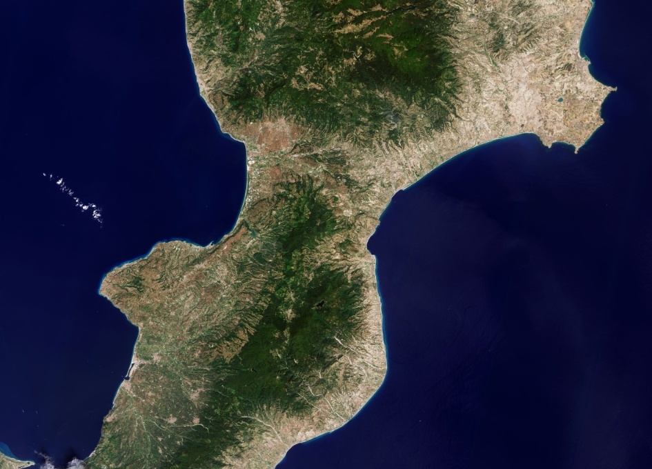 Earth from Space - Calabria, Italy