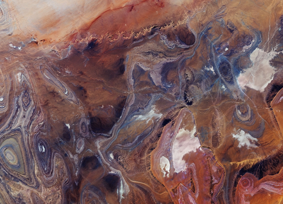 Earth from Space: Tanezrouft Basin, Sahara Desert