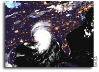 Tropical Storm Ida Passes Over the Southern U.S.