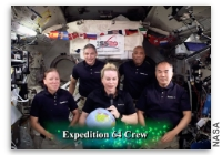 Happy New Year from the ISS Expedition 64 Crew