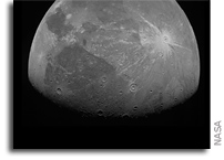 First Images Juno Took As It Sailed by Ganymede