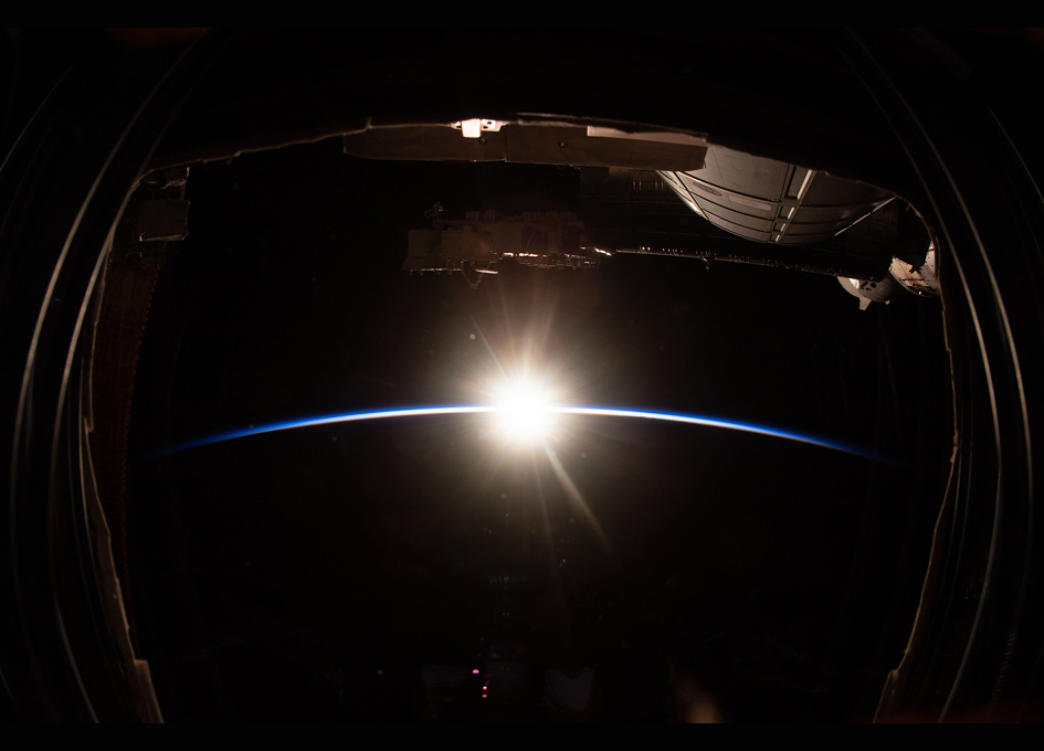 An Orbital Sunrise Witnessed By Humans Above The Pacific Ocean