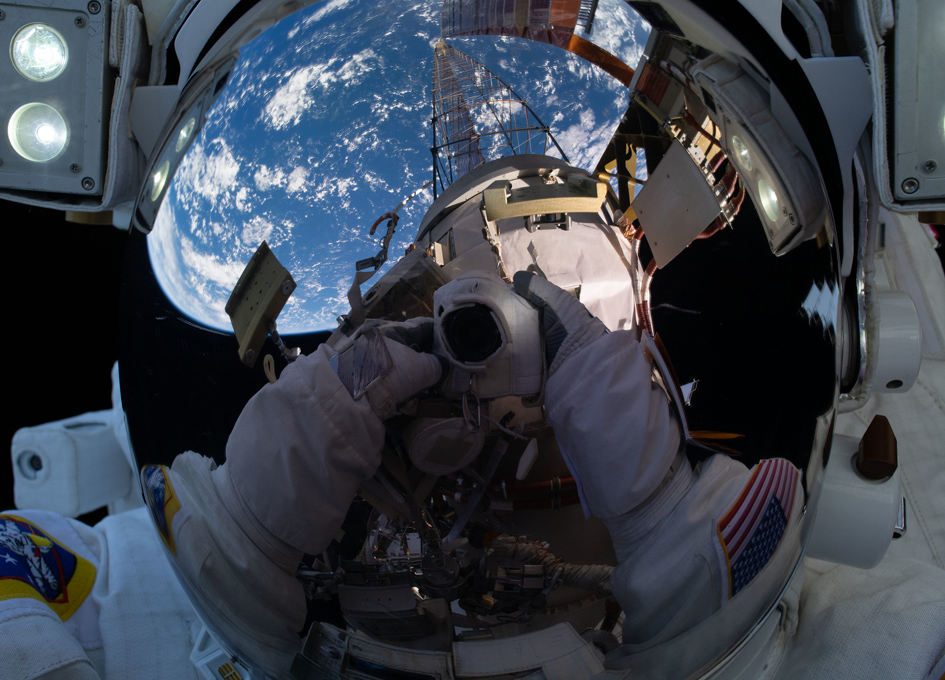 Taking Selfies In Orbit