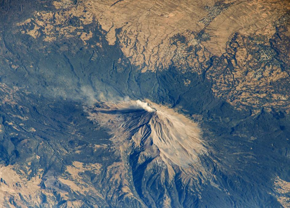 Volcano Popocatépetl Seen From Orbit