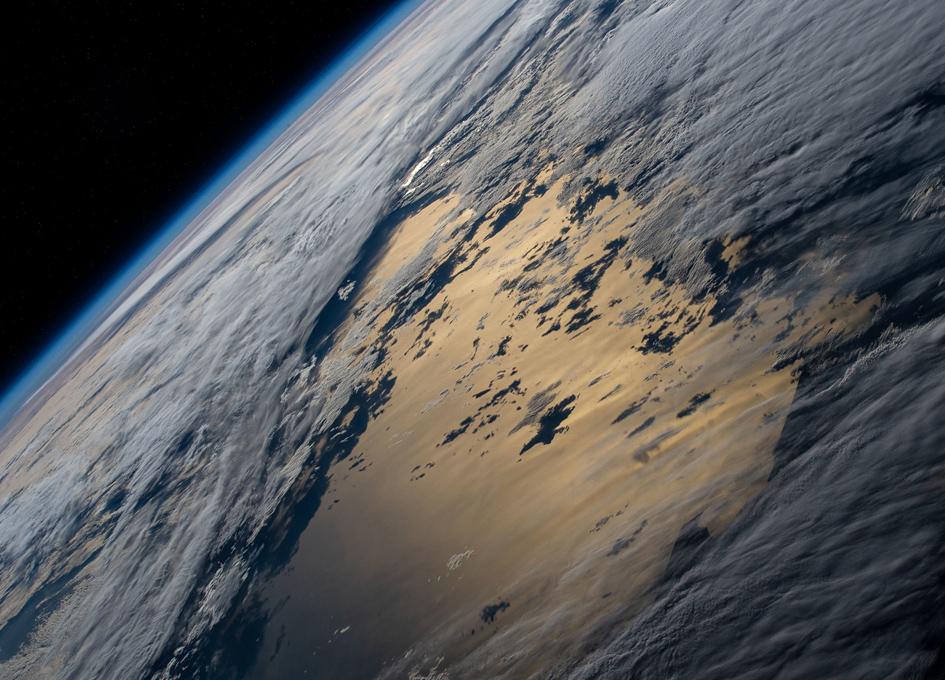 Orbital View Of Pacific Sunglint