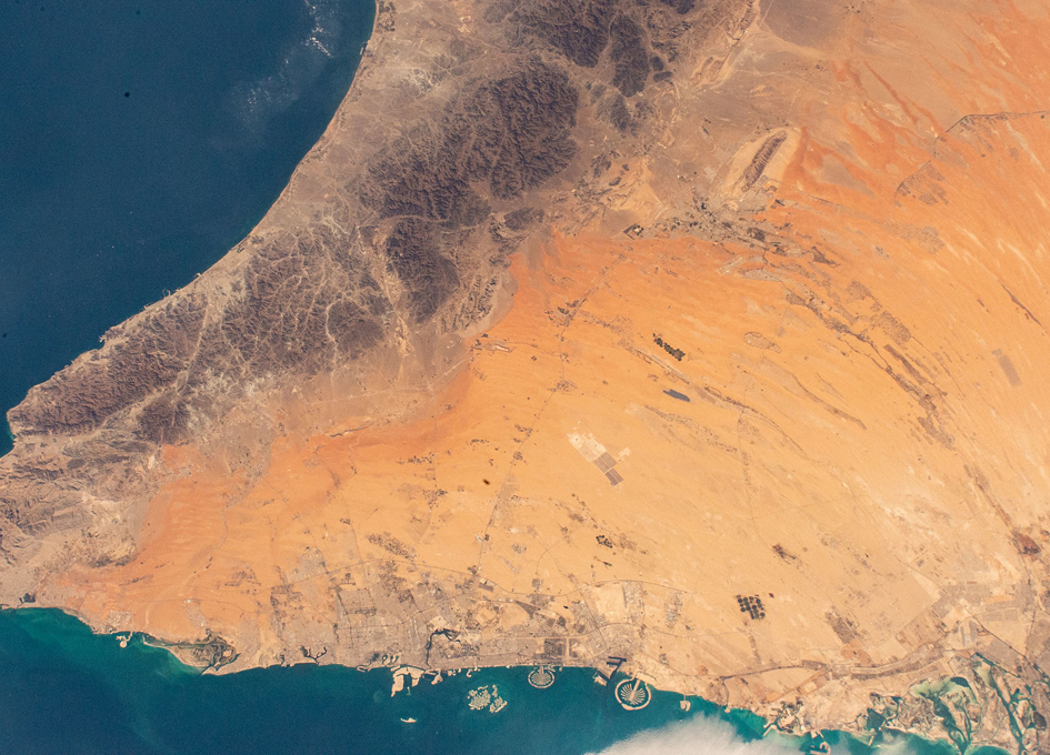 The Desert City Of Dubai As Seen From Orbit