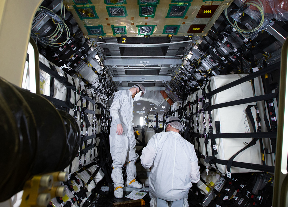 Cargo Placed Inside Northrop Grumman's Cygnus Spacecraft