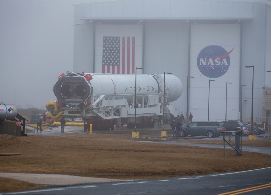 Preparing A Cargo Flight to the Space Station In The Fog