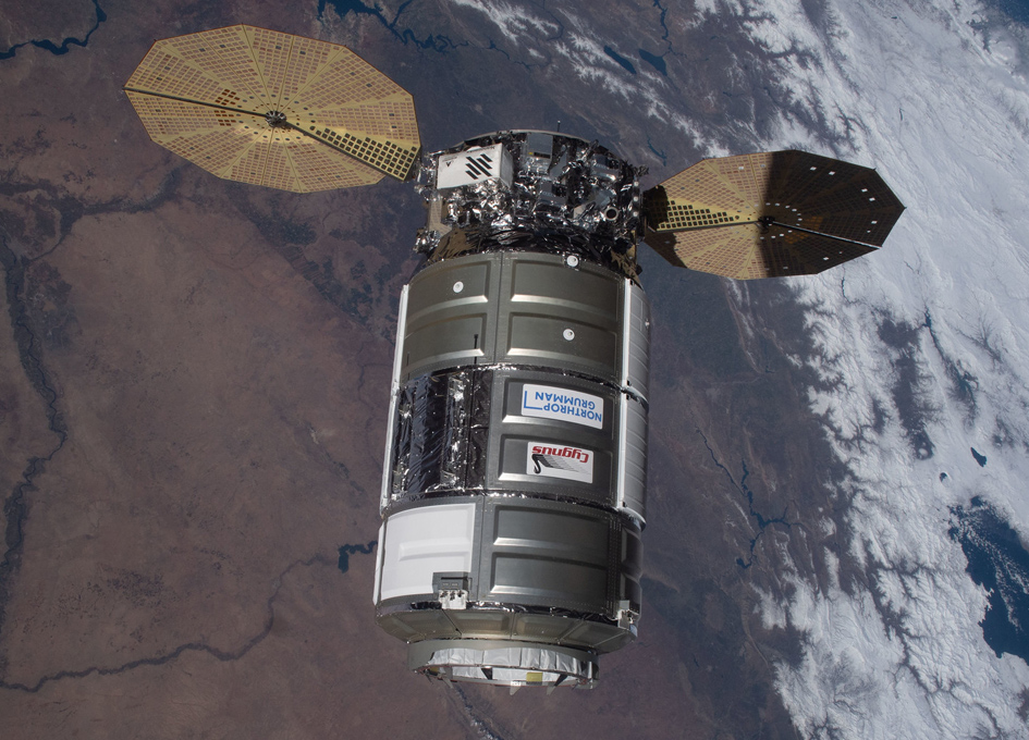 Cygnus Cargo Droid Approaches ISS