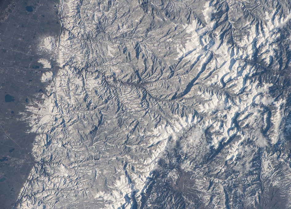 Rocky Mountain National Park Viewed From Orbit