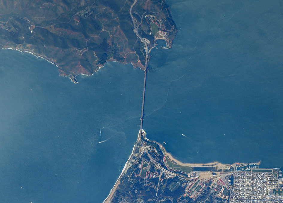 Golden Gate Bridge and San Francisco Seen From Orbit