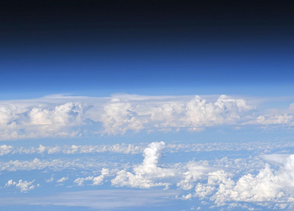 Earth's Horizon Seen From Orbit