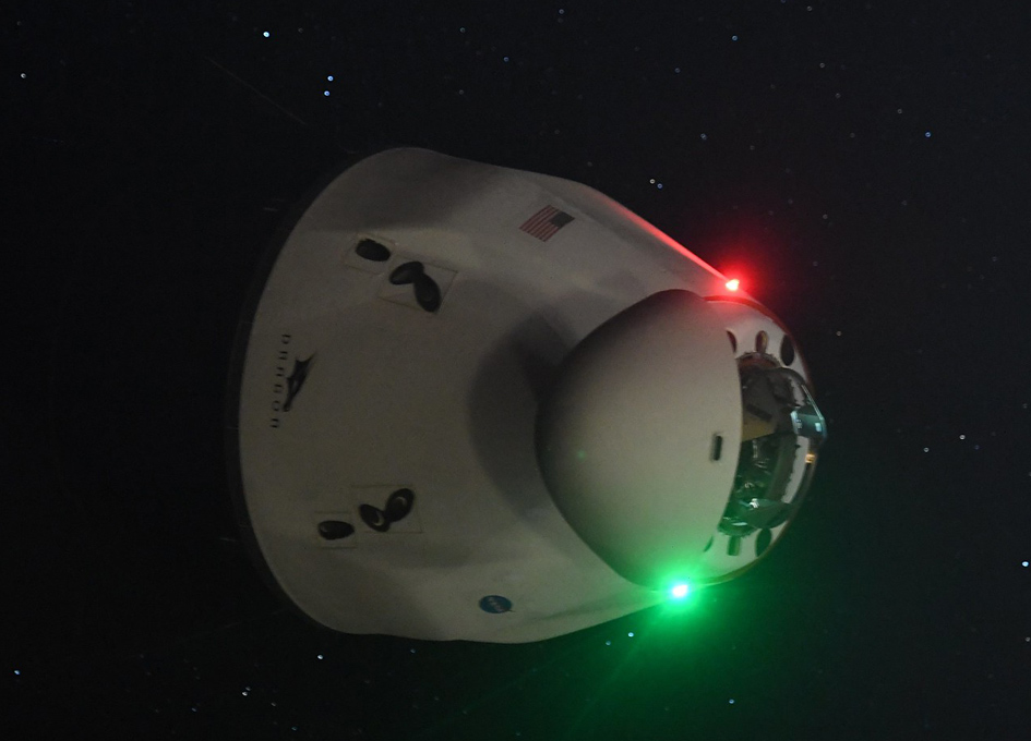 SpaceX Cargo Dragon Arrives At The ISS