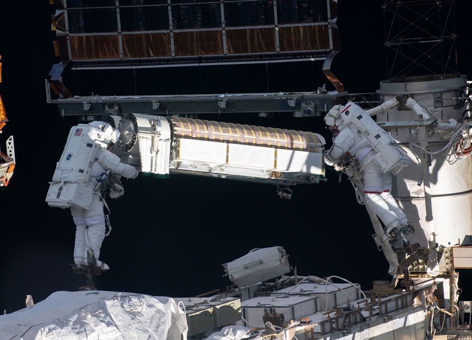 Solar Array Installation On ISS
