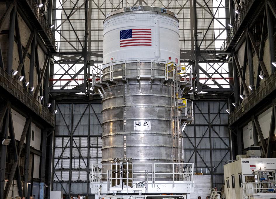 SLS Interim Cryogenic Propulsion Stage Prepared For Integration
