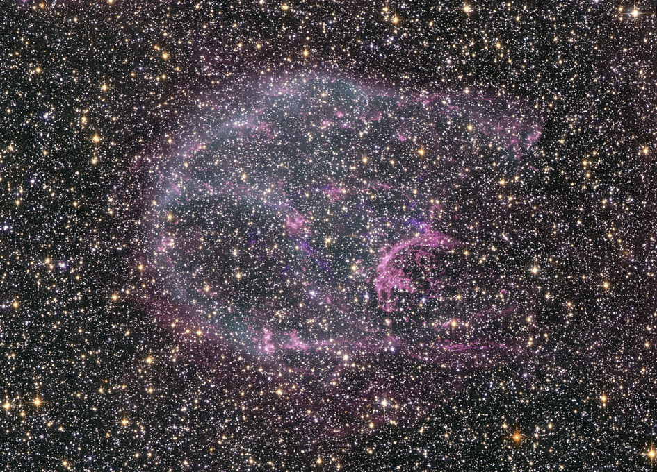 Space Observatories Glimpse Faint Afterglow of Nearby Stellar Explosion
