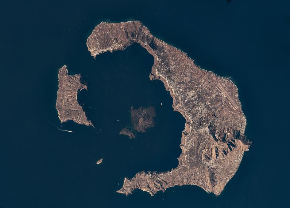 Santorini Viewed From Orbit
