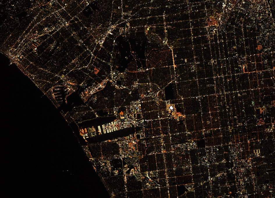 Los Angeles Seen At Night From Orbit