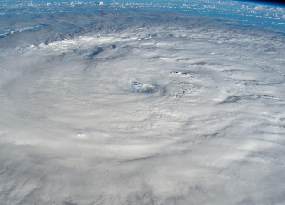 Hurricane Larry churning in the Atlantic Ocean