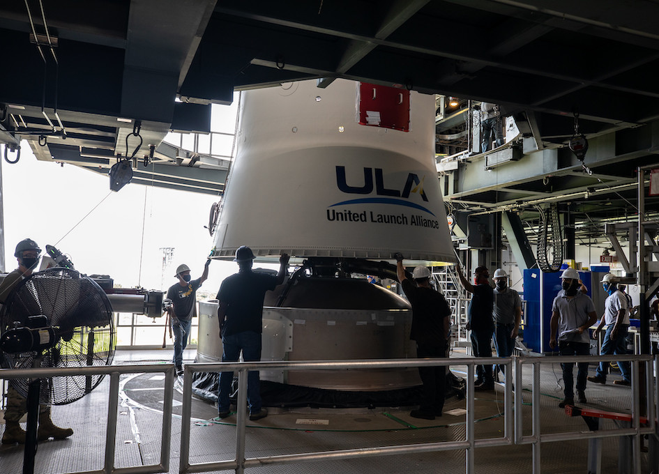 ULA Assembles Atlas V Launch Vehicle For Lucy Asteroid Mission