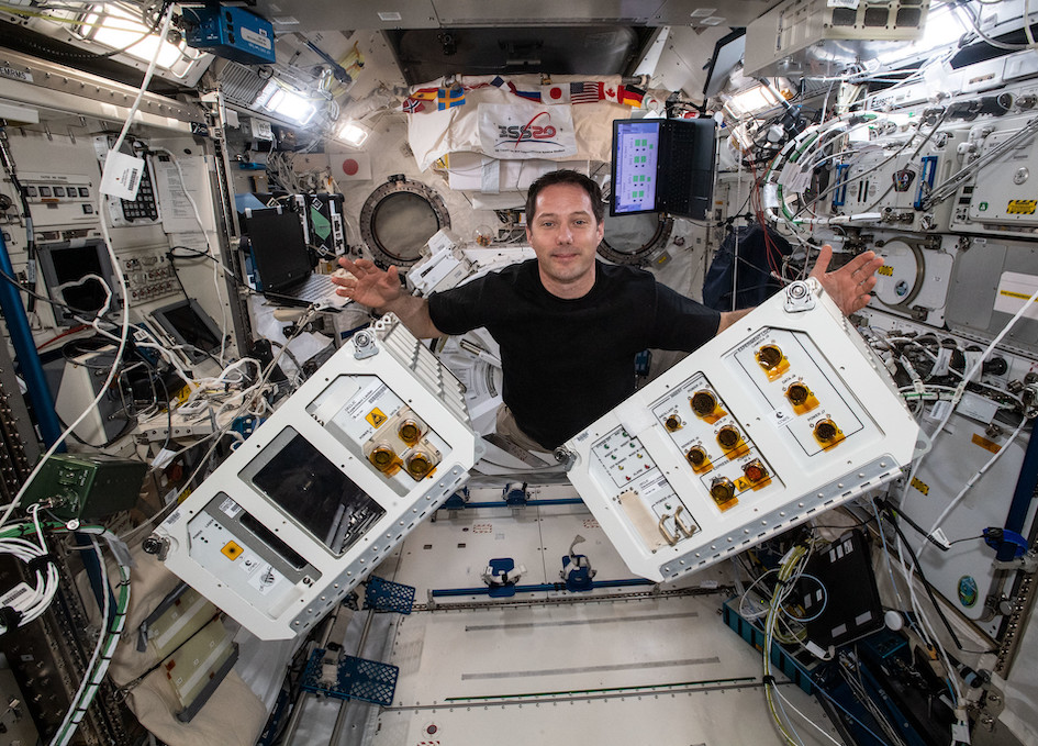 Moving Research Hardware Inside The Space Station