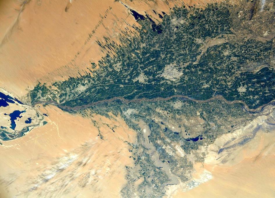 Amu Darya As Seen From Orbit