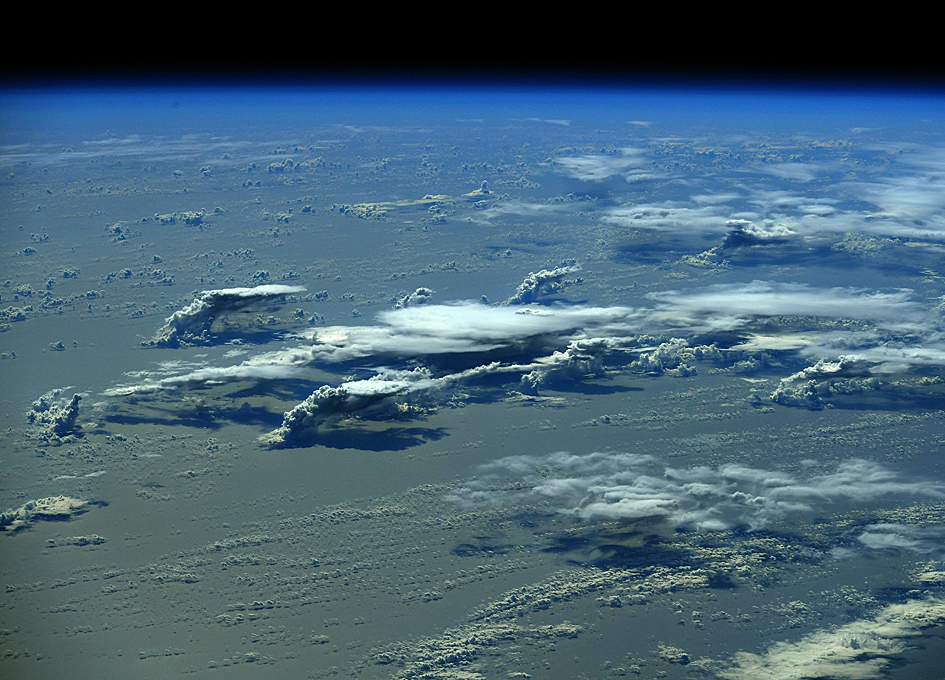 Clouds And Oceans Seen From Orbit