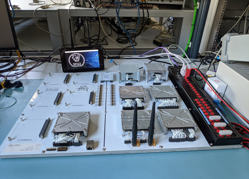 Opened-out 'FlatSat' For CubeSat Testing