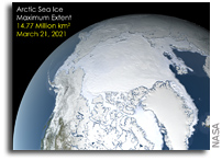 NASA Finds 2021 Arctic Winter Sea Ice Tied for 7th-Lowest on Record