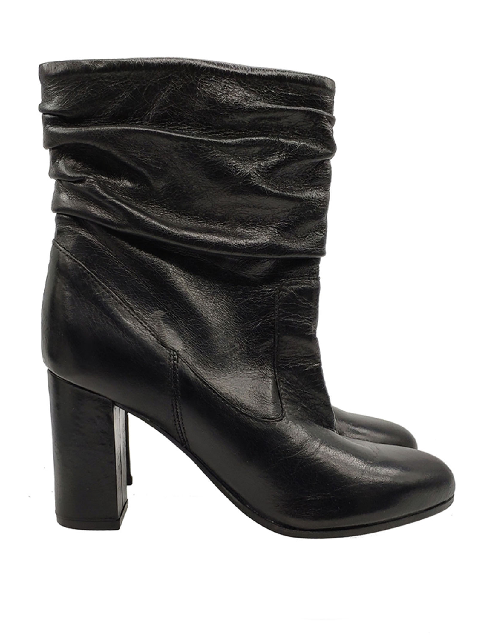 Women's Curled Ankle Boots Carmens   Ankle Boots   40129NERO