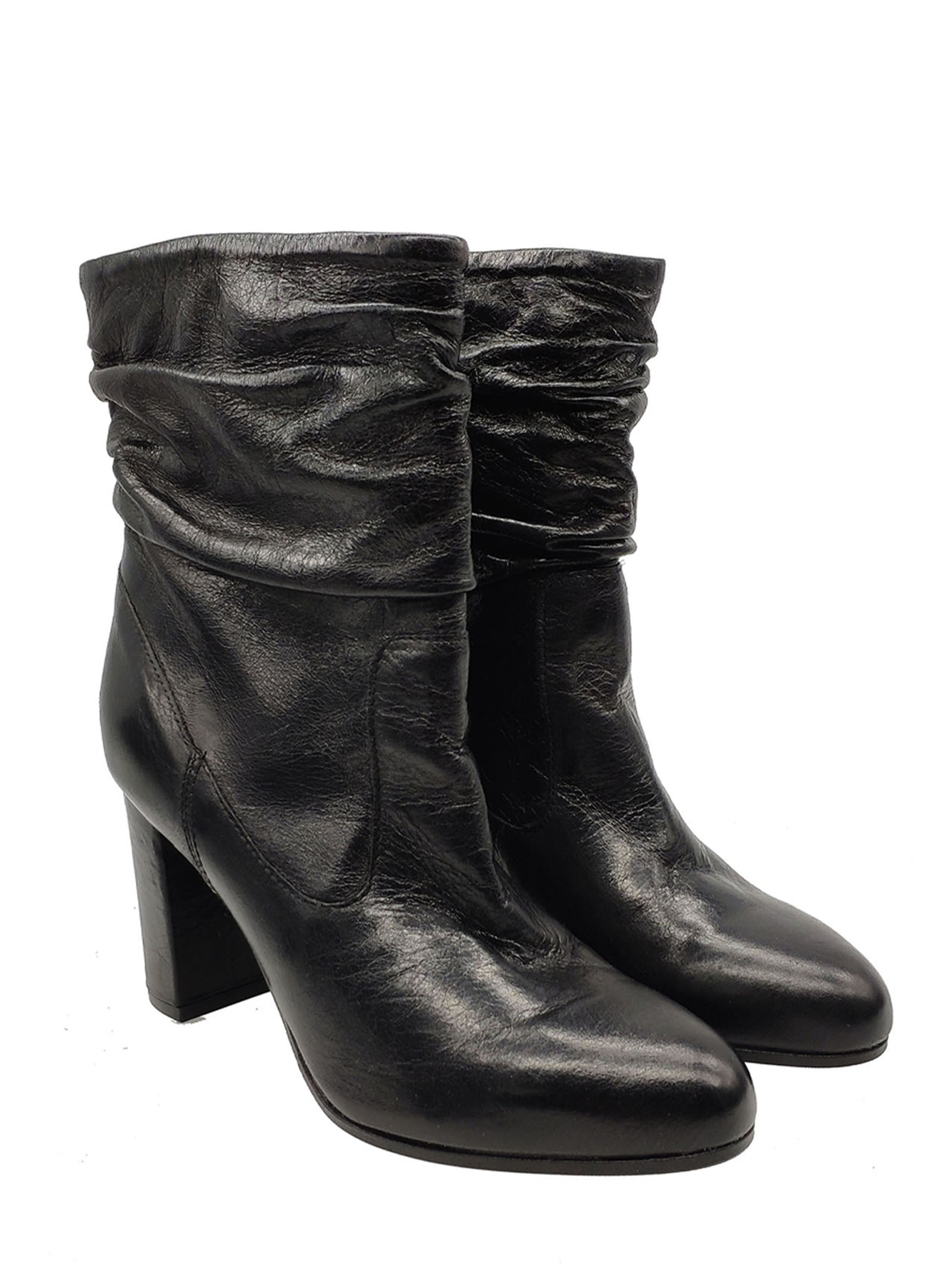 Women's Curled Ankle Boots Carmens | Ankle Boots | 40129NERO