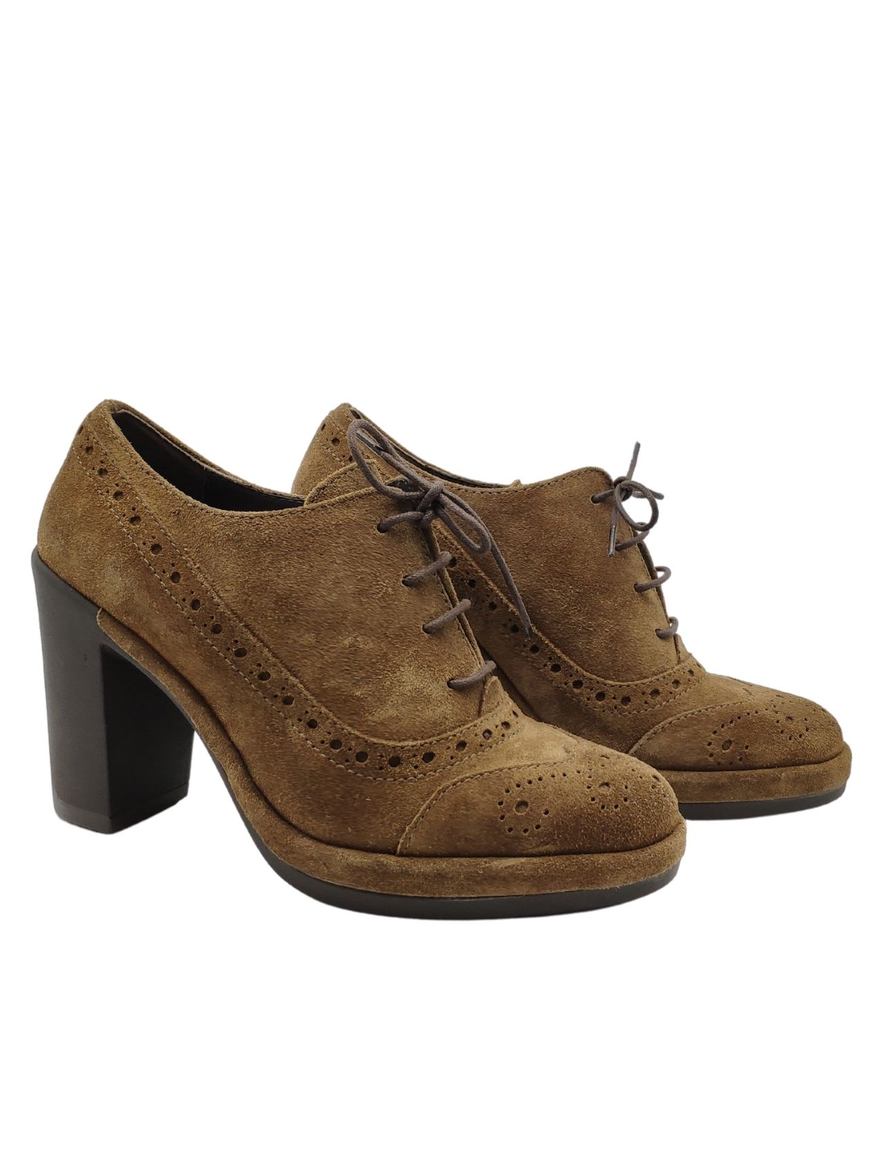 Lace-up High Heel Woman Gianni De Simone | Lace up shoes | 6206CUOIO