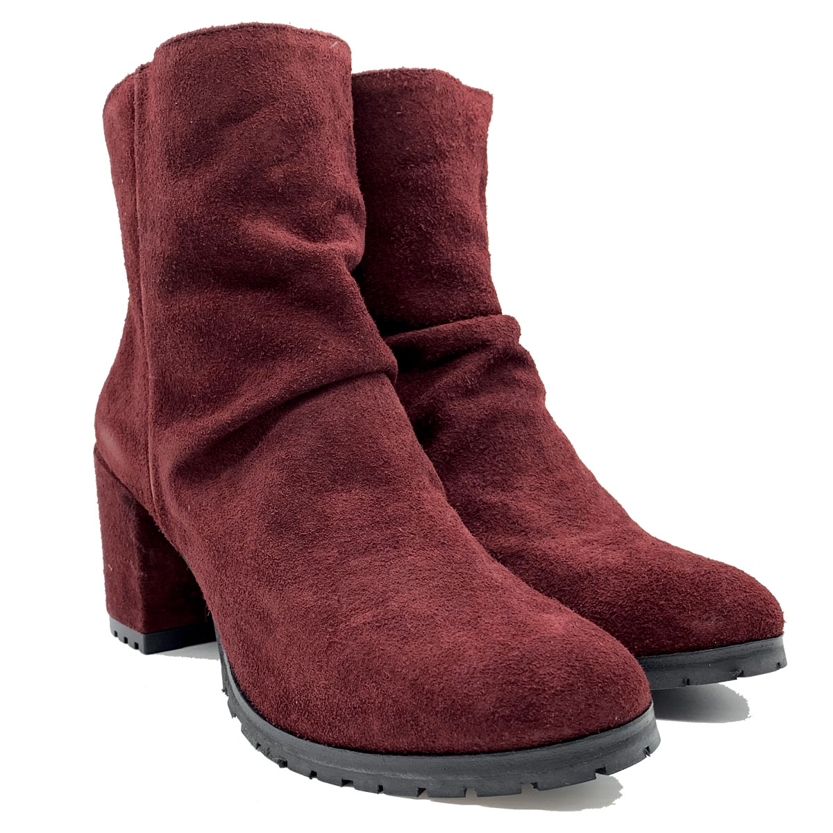 Women's Back Zip Ankle Boots Tattoo | Ankle Boots | 704BORDEAUX