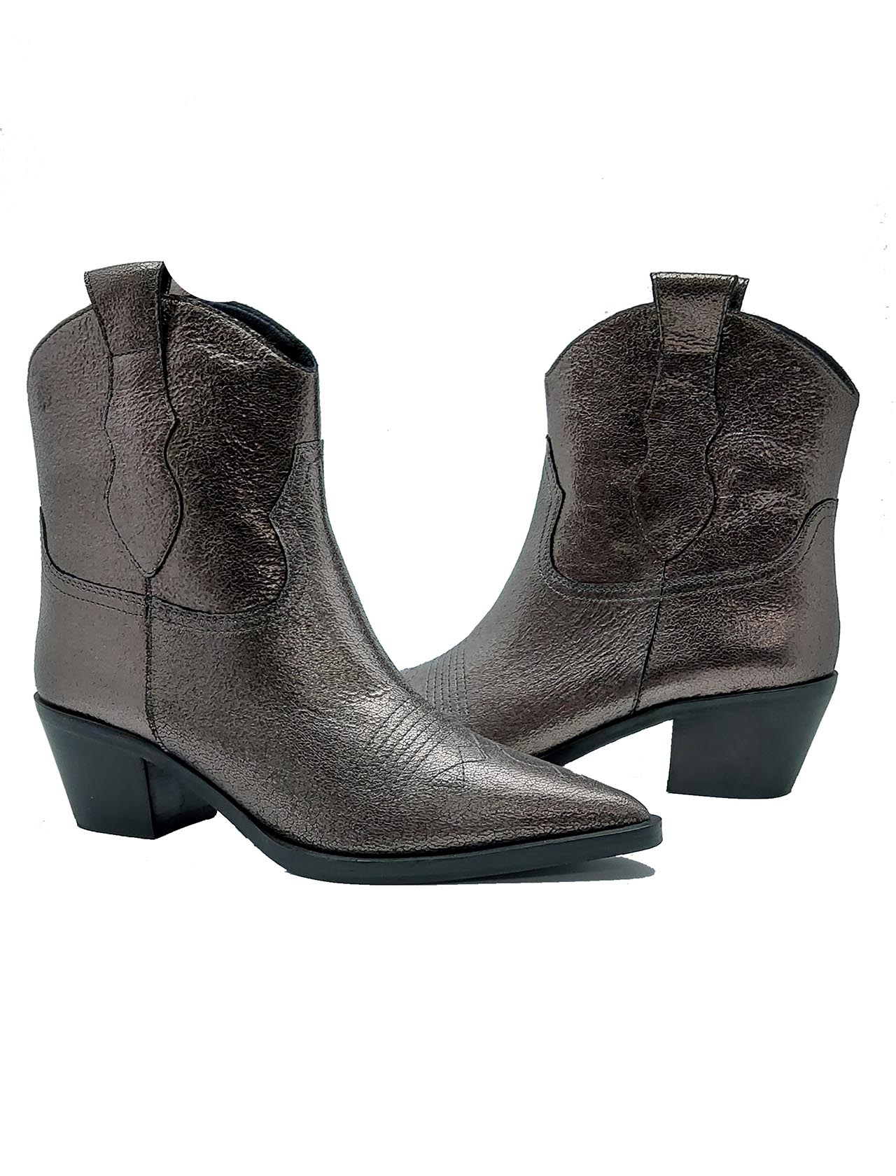 Laminated Texan Women's Ankle Boots Bruno Premi | Ankle Boots | BY6502XCANNA DI FUCILE