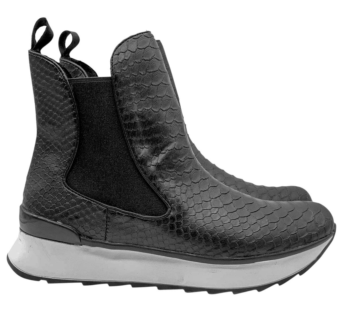 Sneakers Donna Stivaletto con Elastici Exe   Sneakers   FIORELLA-313NERO