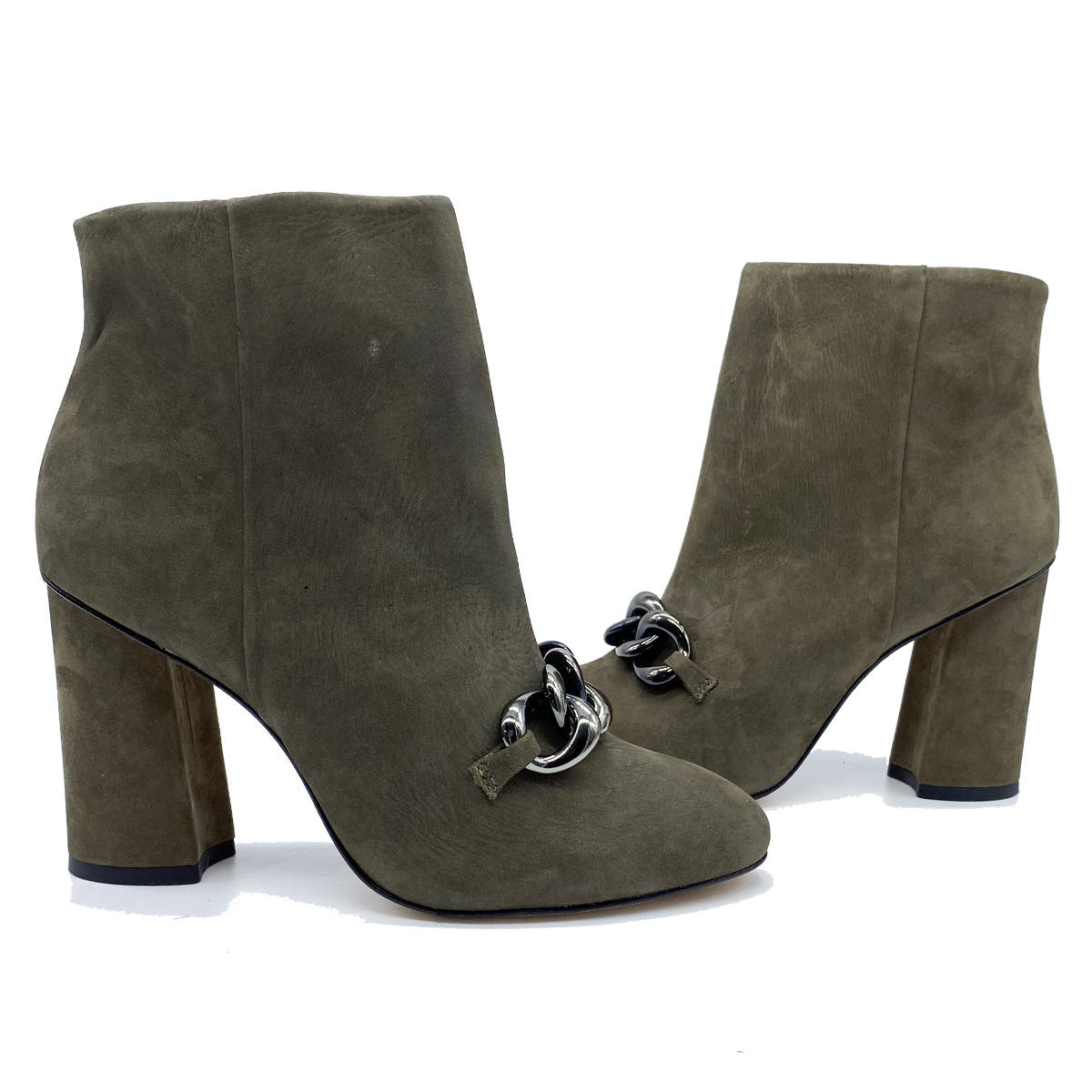 Women's Chain Ankle Boots Spatarella | Ankle Boots | 640009FANGO
