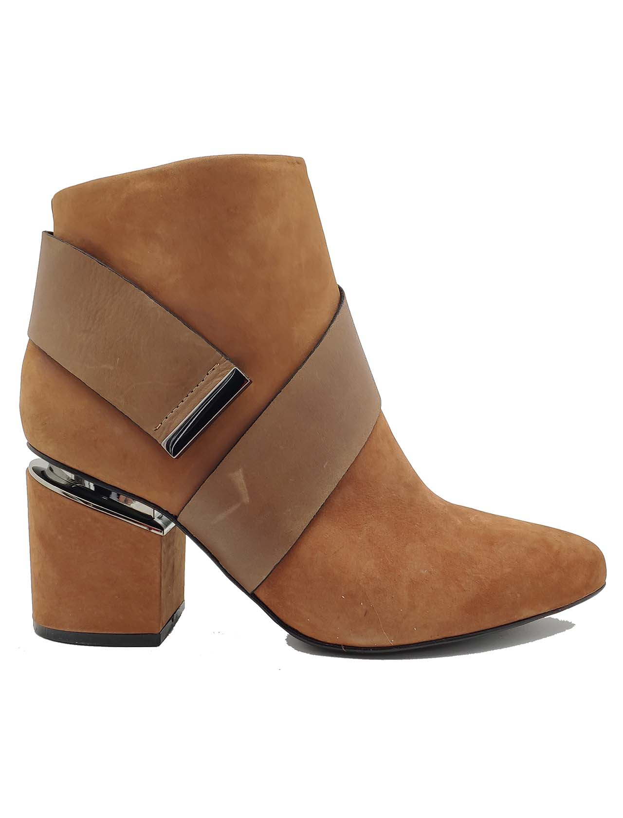 Women's Belt Ankle Boots Spatarella | Ankle Boots | 677004-3CUOIO