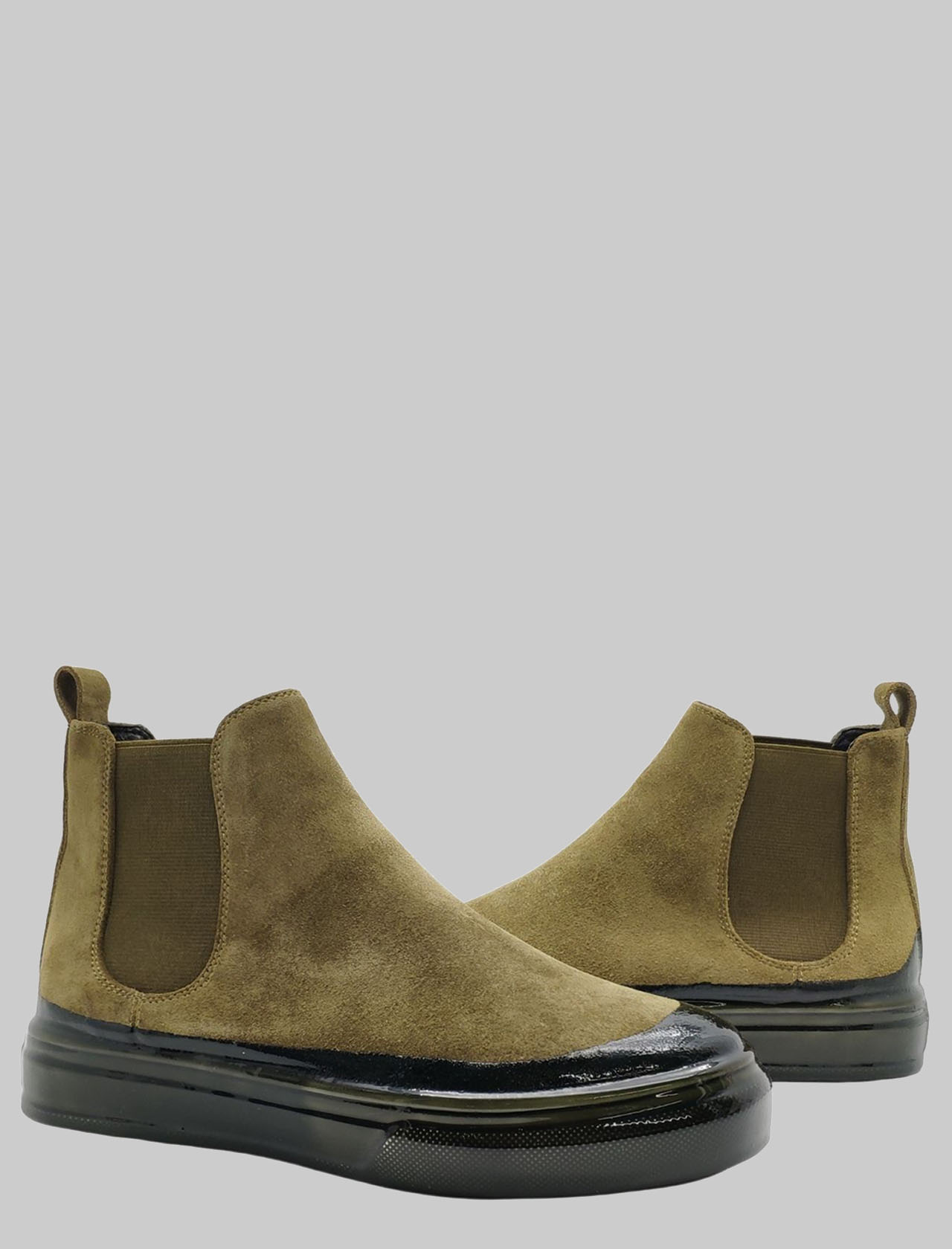 Calzature Donna Sneakers Beatles In Camoscio Muschio Fondo In Gomma Verde Scuro Manufacture D'Essai | Sneakers | MDE69VERDE