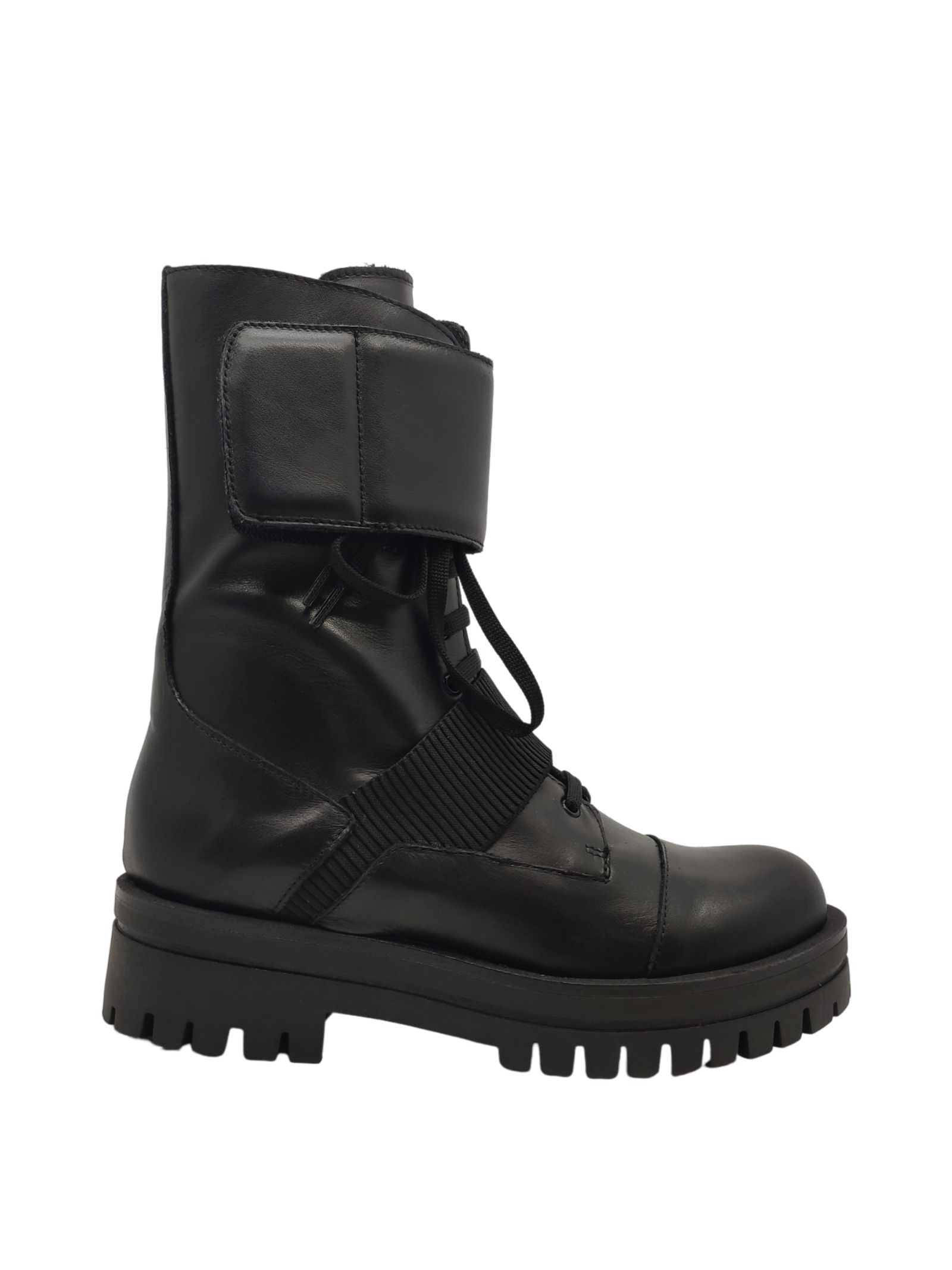 Combat boots for women Spatarella | Ankle Boots | BK146NERO