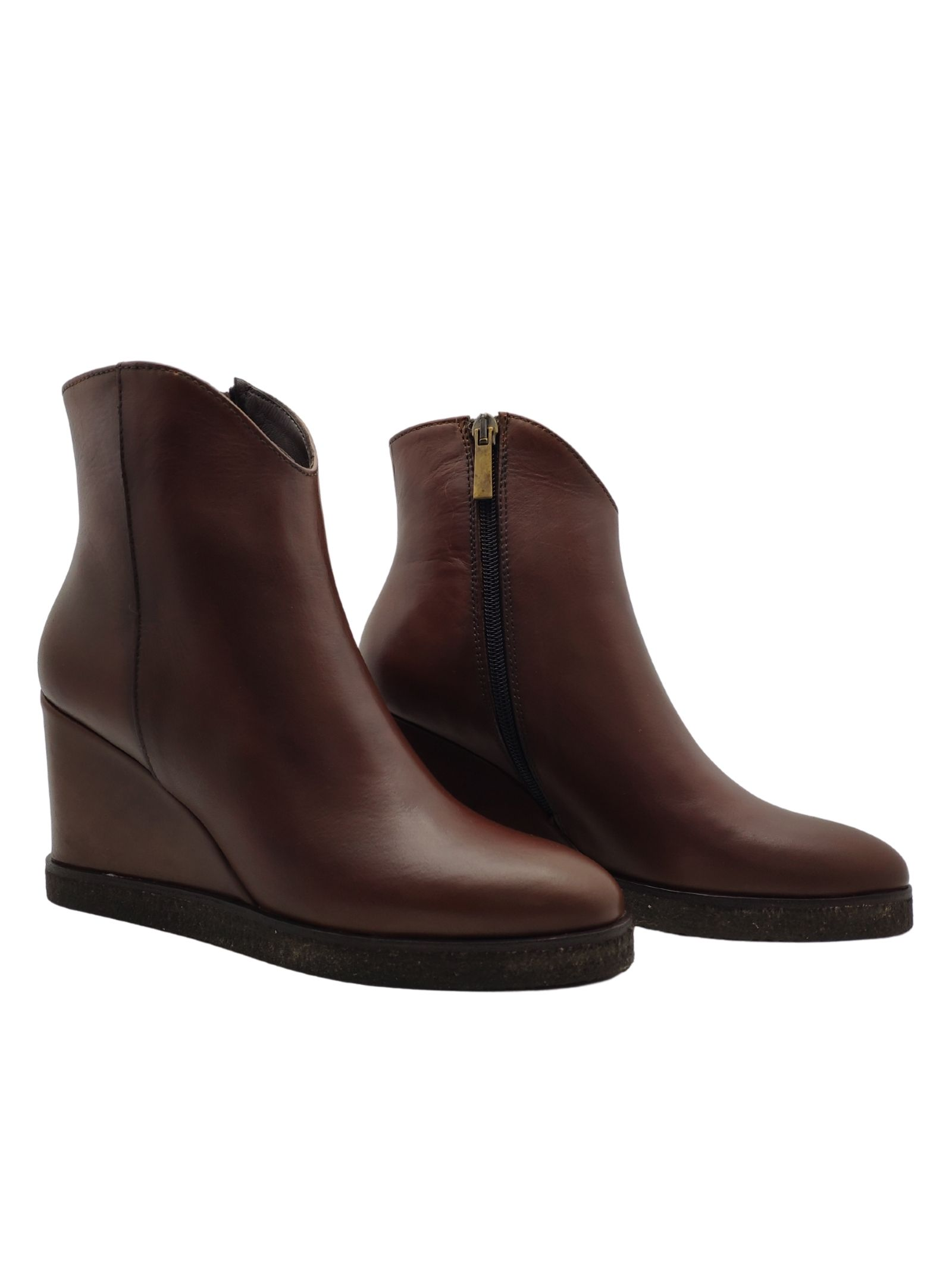 Wedge Ankle Boots Woman Spatarella | Ankle Boots | P1000MORO