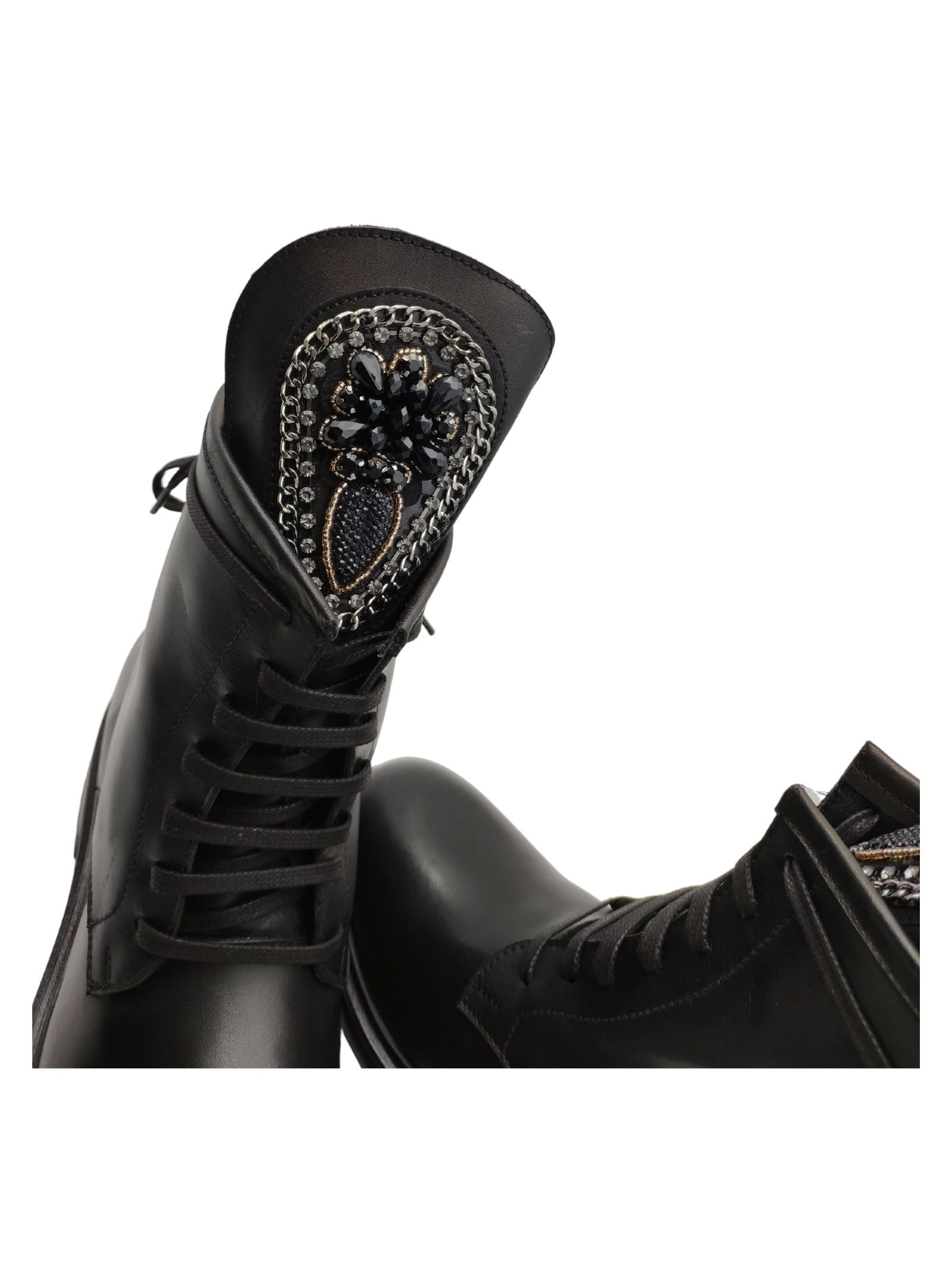 Women's Embroidery Boots Spatarella | Ankle Boots | TR1657NERO