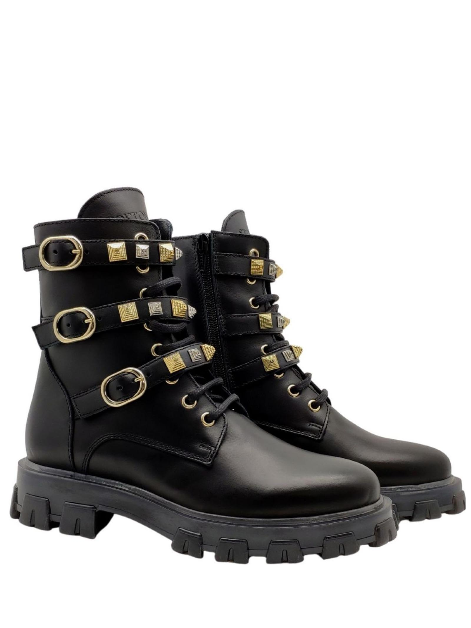 Woman Studded Amphibians Stokton | Ankle Boots | BLK56NERO