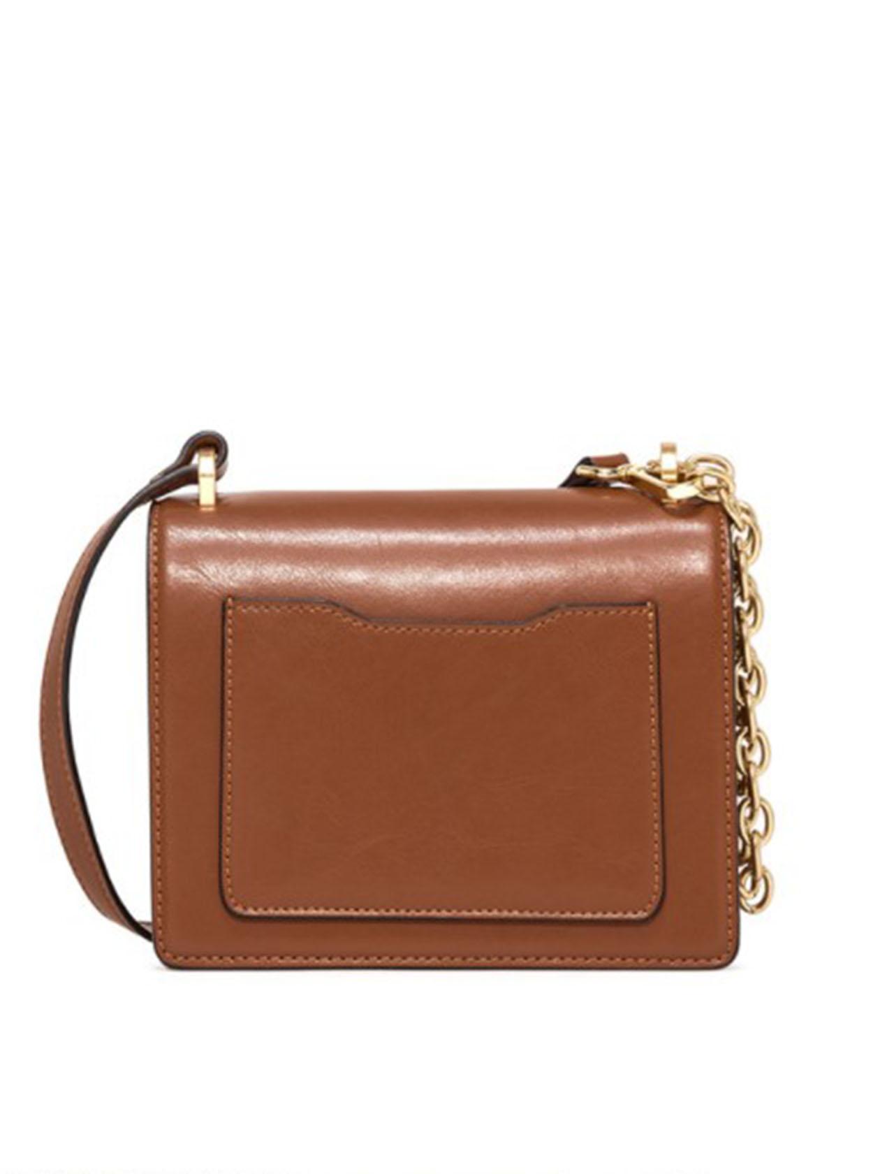 borsa donna tracolla teresa media in pelle marrone con tracolla in pelle e catena oro Gianni Chiarini | Borse e zaini | BS8160MARRONE