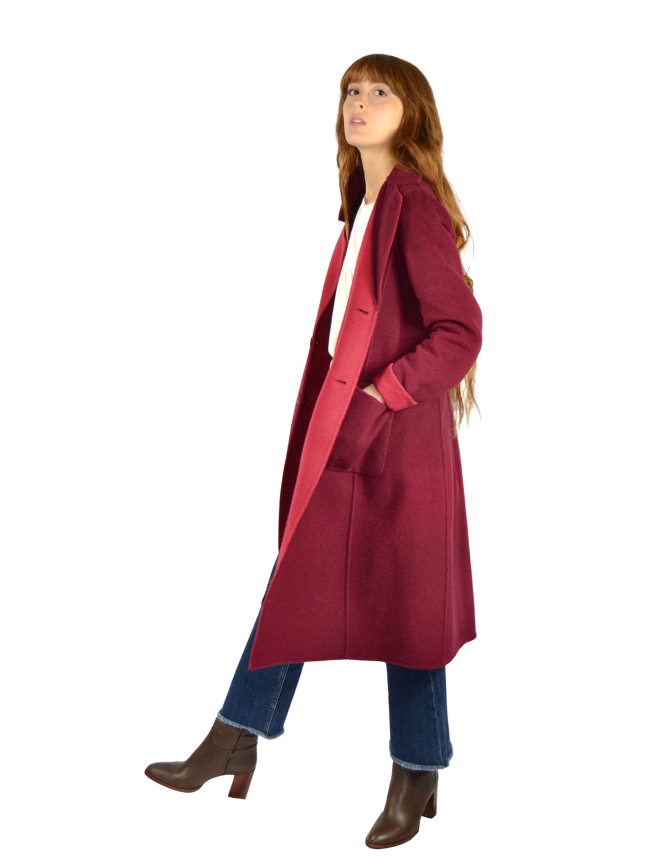 Women's Burgundy Coat Maliparmi | Coats and jackets | JB53072018230A33